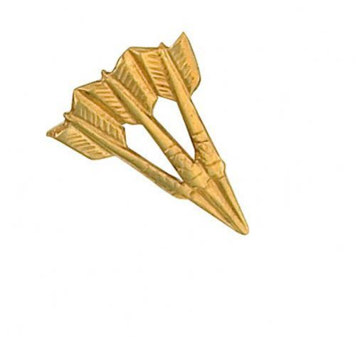 Darts Lapel Pin Cravat Pin Yellow Gold Made To Order in Jewellery Quarter B''ham